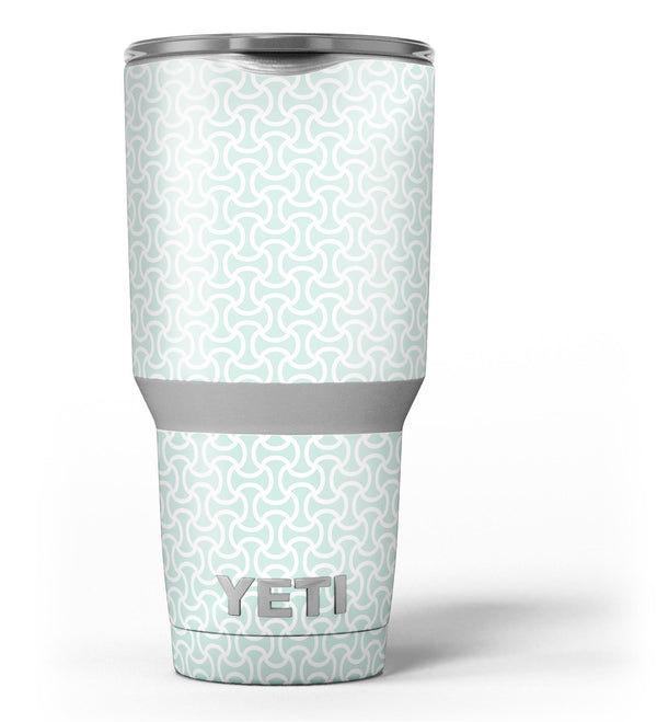 The_Mint_and_White_Axed_Pattern_-_Yeti_Rambler_Skin_Kit_-_30oz_-_V3.jpg