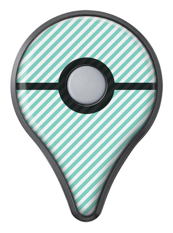 The Mint and White Vertical Stripes Pokémon GO Plus Vinyl Protective Decal Skin Kit