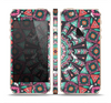 The Mirrored Coral and Colored Vector Aztec Pattern Skin Set for the Apple iPhone 5s