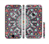 The Mirrored Coral and Colored Vector Aztec Pattern Sectioned Skin Series for the Apple iPhone 6