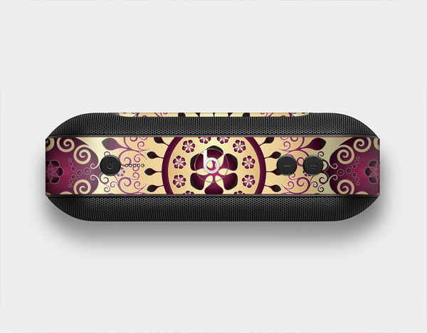 The Mirrored Gold & Purple Elegance Skin Set for the Beats Pill Plus