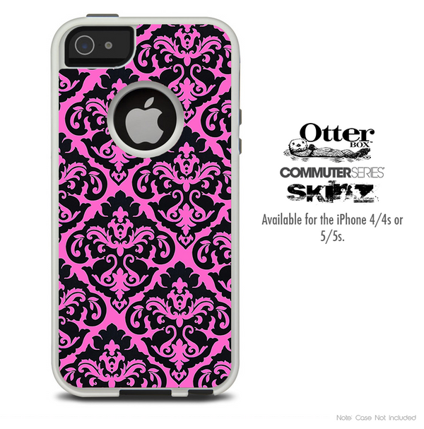 The Blue Subtle Floral Design Skin For The iPhone 4-4s or 5-5s Otterbox Commuter Case