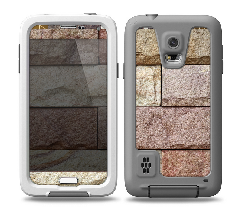 The Mixed Color Stone Wall V3 Skin for the Samsung Galaxy S5 frē LifeProof Case.png