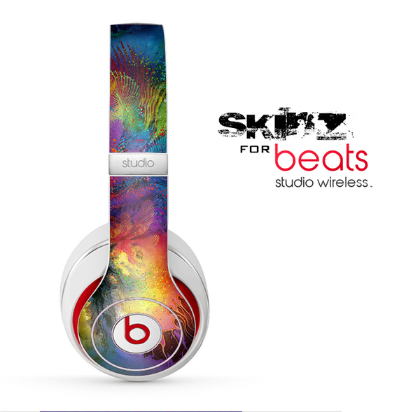 The Mixed Neon Paint Skin for the Beats by Dre Studio Wireless Headphones