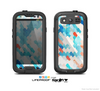 The Modern Abstract Blue Tiled Skin For The Samsung Galaxy S3 LifeProof Case