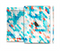 The Modern Abstract Blue Tiled Full Body Skin Set for the Apple iPad Mini 3