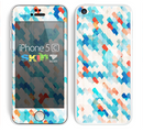 The Modern Abstract Blue Tiled Skin for the Apple iPhone 5c
