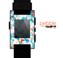 The Modern Abstract Blue Tiled Skin for the Pebble SmartWatch