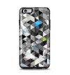 The Modern Black & White Abstract Tiled Design with Blue Accents Apple iPhone 6 Plus Otterbox Symmetry Case Skin Set