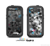 The Modern Black & White Abstract Tiled Design with Blue Accents Skin For The Samsung Galaxy S3 LifeProof Case