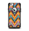 The Modern Colorful Abstract Chevron Design Apple iPhone 6 Otterbox Commuter Case Skin Set