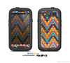 The Modern Colorful Abstract Chevron Design Skin For The Samsung Galaxy S3 LifeProof Case