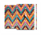 The Modern Colorful Abstract Chevron Design Full Body Skin Set for the Apple iPad Mini 3