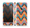 The Modern Colorful Abstract Chevron Design Skin Set for the Apple iPhone 5