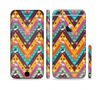 The Modern Colorful Abstract Chevron Design Sectioned Skin Series for the Apple iPhone 6