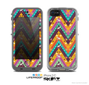 The Modern Colorful Abstract Chevron Design Skin for the Apple iPhone 5c LifeProof Case