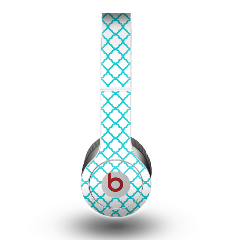 The Moracan Teal on White Skin for the Beats by Dre Original Solo-Solo HD Headphones