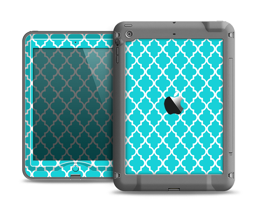 The Morocan Teal Pattern Apple iPad Air LifeProof Nuud Case Skin Set