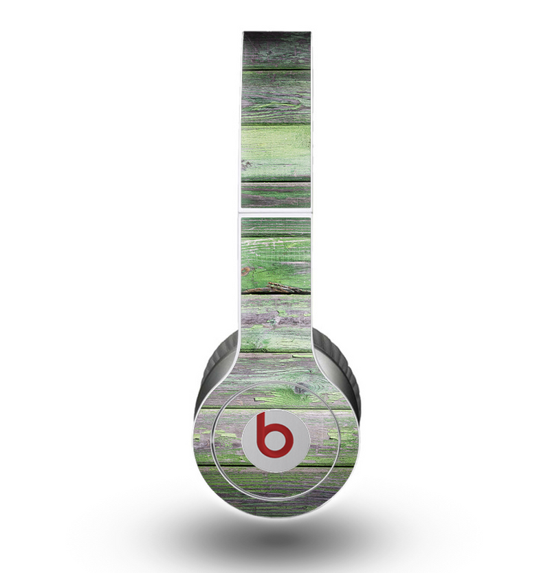 The Mossy Green Wooden Planks Skin for the Beats by Dre Original Solo-Solo HD Headphones