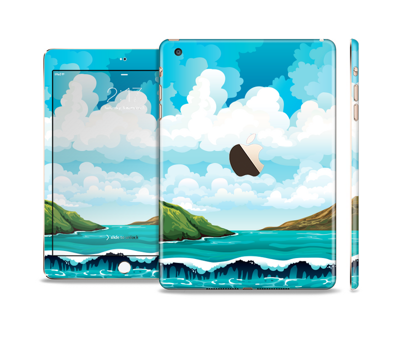 The Mountain & Water Art Color Scene Full Body Skin Set for the Apple iPad Mini 3