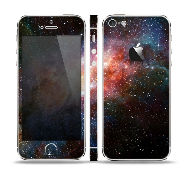 The Mulitcolored Space Explosion Skin Set for the Apple iPhone 5