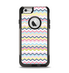 The Multi-Lined Chevron Color Pattern Apple iPhone 6 Otterbox Commuter Case Skin Set