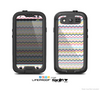 The Multi-Lined Chevron Color Pattern Skin For The Samsung Galaxy S3 LifeProof Case