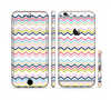 The Multi-Lined Chevron Color Pattern Sectioned Skin Series for the Apple iPhone 6 Plus