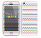 The Multi-Lined Chevron Color Pattern Skin for the Apple iPhone 5c