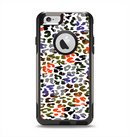 The Multicolored Leopard Vector Print Apple iPhone 6 Otterbox Commuter Case Skin Set