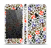 The Multicolored Leopard Vector Print Skin Set for the Apple iPhone 5