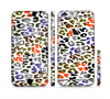 The Multicolored Leopard Vector Print Sectioned Skin Series for the Apple iPhone 6 Plus