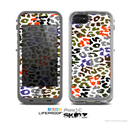 The Multicolored Leopard Vector Print Skin for the Apple iPhone 5c LifeProof Case
