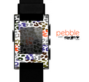 The Multicolored Leopard Vector Print Skin for the Pebble SmartWatch