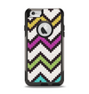 The Multicolored Pixelated ZigZag CHevron Pattern Apple iPhone 6 Otterbox Commuter Case Skin Set