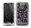 The Multicolored Polka with Black Background Skin for the Samsung Galaxy S5 frē LifeProof Case
