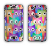 The Multicolored Shy Owls Pattern Apple iPhone 6 Plus LifeProof Nuud Case Skin Set