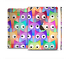 The Multicolored Shy Owls Pattern Full Body Skin Set for the Apple iPad Mini 3