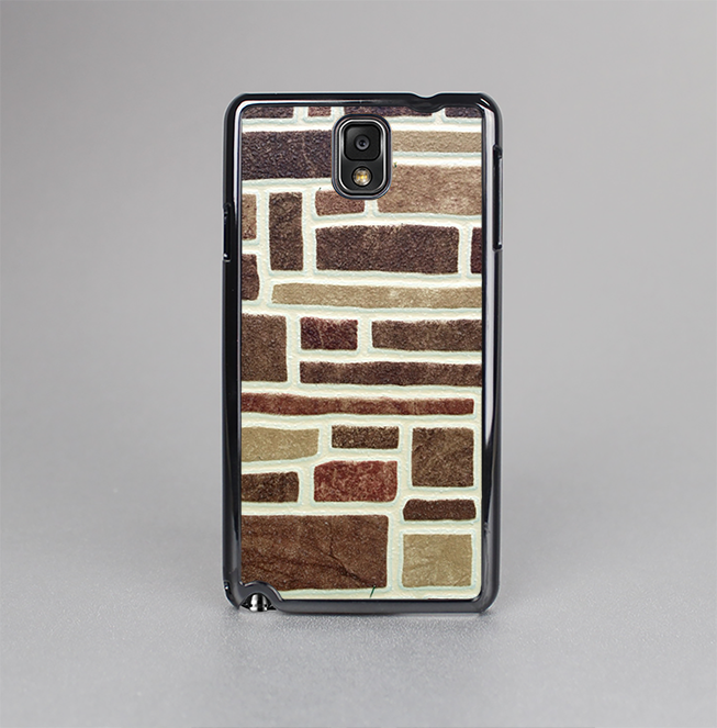 The Multicolored Stone Wall V4 Skin-Sert Case for the Samsung Galaxy Note 3