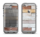 The Multicolored Stone Wall v5 Apple iPhone 5c LifeProof Nuud Case Skin Set