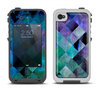 The Multicolored Tile-Swirled Pattern Apple iPhone 4-4s LifeProof Fre Case Skin Set