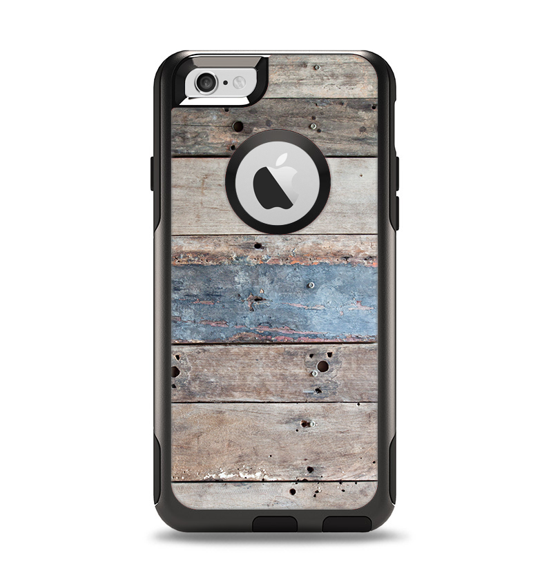 The Multicolored Tinted Wooden Planks Apple iPhone 6 Otterbox Commuter Case Skin Set