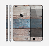 The Multicolored Tinted Wooden Planks Skin for the Apple iPhone 6 Plus