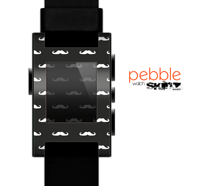The Mustache Galore Skin for the Pebble SmartWatch