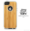 The Natural Wood Skin For The iPhone 4-4s or 5-5s Otterbox Commuter Case