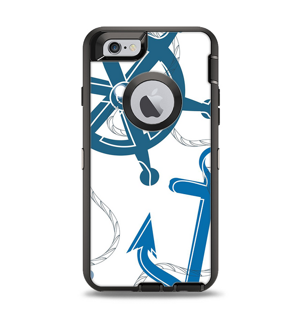 The Nautical Anchor Collage Apple iPhone 6 Otterbox Defender Case Skin Set