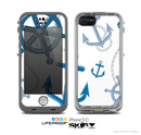 The Nautical Anchor Collage Skin for the Apple iPhone 5c LifeProof Case