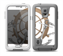 The Nautical Captain's Wheel with anchors Skin for the Samsung Galaxy S5 frē LifeProof Case