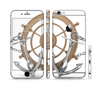 The Nautical Captains Wheel with anchors Sectioned Skin Series for the Apple iPhone 6