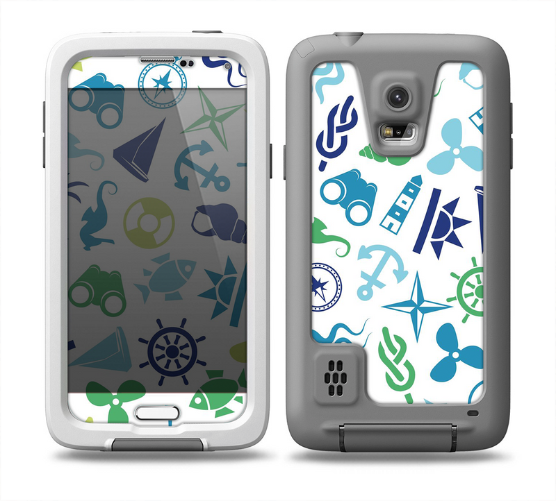 The Nautical Vector Shapes Skin for the Samsung Galaxy S5 frē LifeProof Case